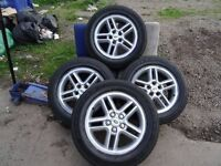 "set of rangerover 18"" alloys goodyear tyres all round complete with nuts QUICK SALE £275 ono"