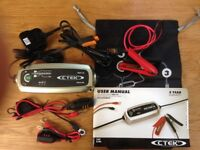 CTEK MXS 3.8 BATTERY CHARGER AS NEW WITH COMFORT INDICATOR - SUITABLE FOR START/STOP CHARGING