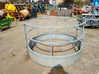 Galvanised round bale ring feeder farm livestock tractor