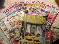 Bundle of Home decor magazines
