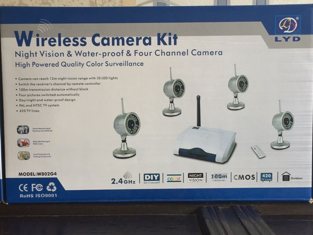 Lyd Model No W804g4 Wireless Camera Kit I In Worcester