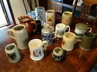 Vintage beer jugs