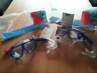 Kids Zoggs Reef Explorer Junior Snorkel Set - Clear/Blue, each