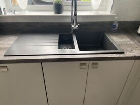 Charcoal composite sink and tap