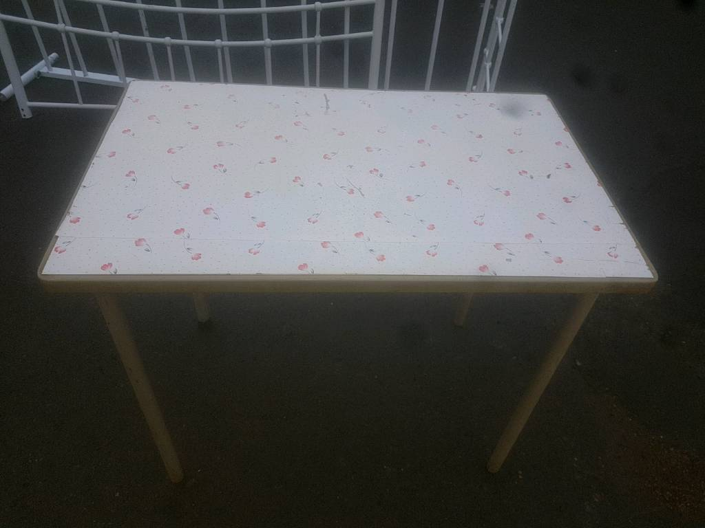 Table - Rectangular Table with Metal Legs Multi Purpose Table