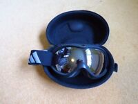 Adidas Ski Goggles, Black, Adult Small, with Hard Case, Good Condition
