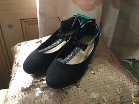 Girls NEXT party shoes size 1