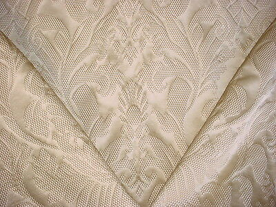 4Y BREATHTAKING LEE JOFA MULBERRY TEXTURED SCROLL SILK DAMASK UPHOLSTERY FABRIC