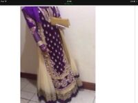 STUNNING VELVET ASIAN WEDDING DRESS FOR SALE
