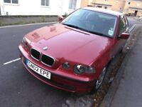 BMW 3SERIES 2.0 COMPACT, MANUL FULL SERVICE HISTORY LOW MILEAGE 90K £895