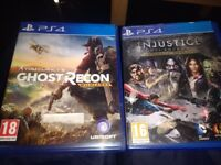 Injustice gods among us. And ghosts recon wildlands all in good working order and good condition