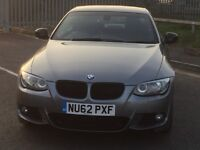 BMW 320d Convertible 62 plate with full blapck leather trim.Only 37k , FSH, Immaculate example