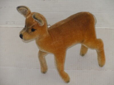 VINTAGE STEIFF MOHAIR BUCK? DOE? DEER STUFFED PLUSH TOY NO TAG OR BUTTON