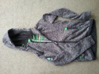 SuperDry Men's Small Knitted Hoodie Grey & Green