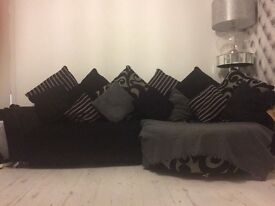 6 seater DFS sofa and chair £250 sofa can go in two
