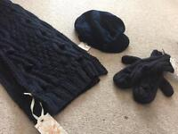 Scarf , hat and gloves set