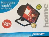 1200w/240v Halogen External/Internal Wall Heater - Brand New and still in the box