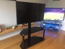 """43"""" LG 4K Smart TV and black glass stand (free bluray player too)"""