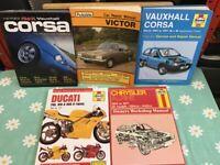 Car service/repair manuals