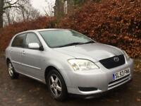 TOYOTA COROLLA 1.6 **2003**MOT EXPIRES AUGUST 2018**NEW CLUTCH**