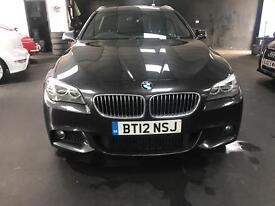 "BMW 520d M SPORT AUTO 19""ALLOYS SATNAV HEATED BLACK LEATHER SEATS"