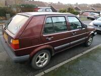 Vw golf mk2 1.3 5 speed