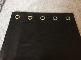 Black lined eyelet curtains 66x90 from Next