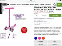 Mini Micro Special Edition Scooter Pink