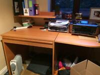 Desk with drawer and shelf