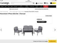 4 piece sofa set