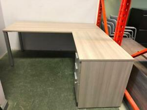 "IOF 72"" x 72"" L-Shape Desk with Box/Box/File Pedestal - Showroom Special"