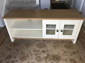 Matching Coffee Table and Entertainment Unit - Cream and Oak style