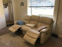 Leather Electronic Recliner Sofa