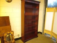 BERESFORD AND HICKS TALL MAHOGANY BOOKCASE WITH ADJUSTABLE SHELVES FREE DELIVERY
