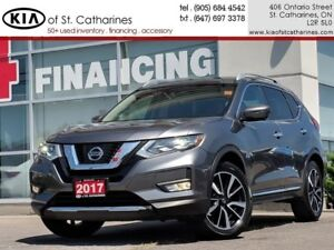 2017 Nissan Rogue SL Platinum | Leather | Lane Assist | Bose Sou