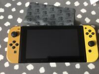 Huge NINTENDO SWITCH Pikachu & Eevee LIMITED EDITION with pokeball and extras