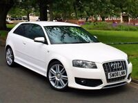 ★12 MONTHS WARRANTY ★ AUDI S3 TSFI QUATTRO -FULL LEATHER -2 KEYS - FSH - WHITE - FREE DELIVERY UK