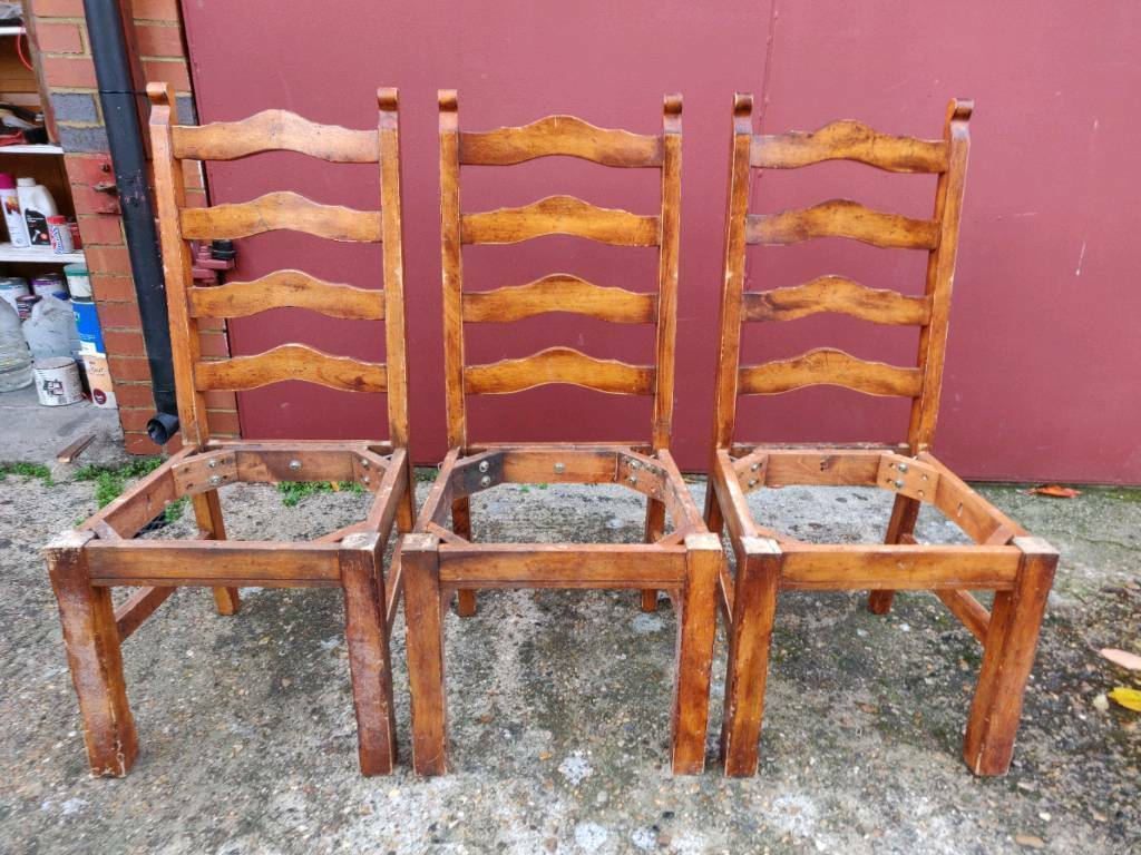 Furniture Warehouse Clearance 4 Dining Chairs Diy Shabby Chic Upholstery Project