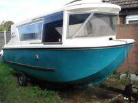 boat caracruiser boat/caravan