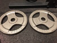 15kg cast iron tri grip weight plates