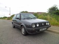 NOW SOLD VW GOLF MK2 DRIVER 1991 ,1600cc 2 DOOR , Gti look a like, only 3 owners from new