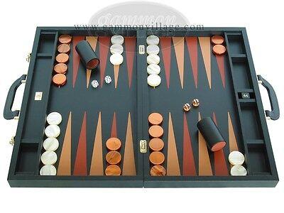 LUXURY Leather Backgammon Set - Zaza & Sacci - 23