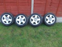 AUDI ALLOYS WITH VERY GOOD TYRES
