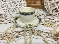 REDUCED Art Deco Woods Ivory Ware England China 22k Gold cup+Saucer