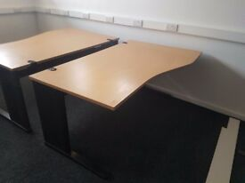 Beech executive office desks
