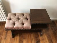 Vintage telephone table/Hall/Entry table