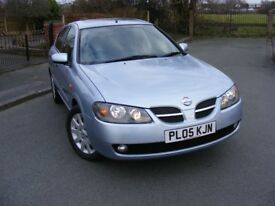 NISSAN ALMERA SVE, BLUE, 102K, 5 DOOR, 05 REGISTRATION - GOOD, CLEAN CAR FOR THE YEAR