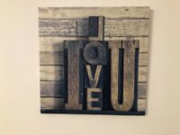 I Love you Canvas Picture