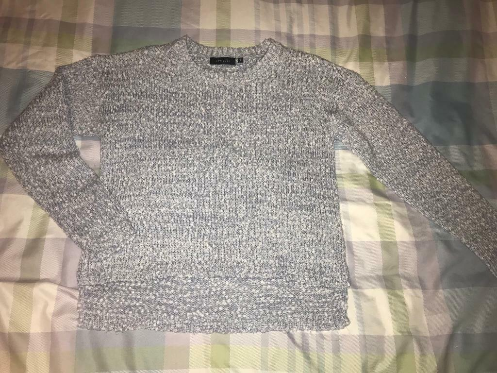 New look baby blue jumper size 10