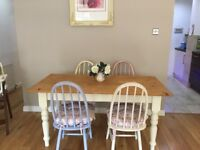 4 Shabby Chic Kitchen Chairs (sold with cushions)